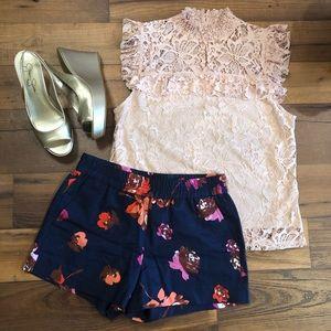 🌺J. Crew Floral Shorts.
